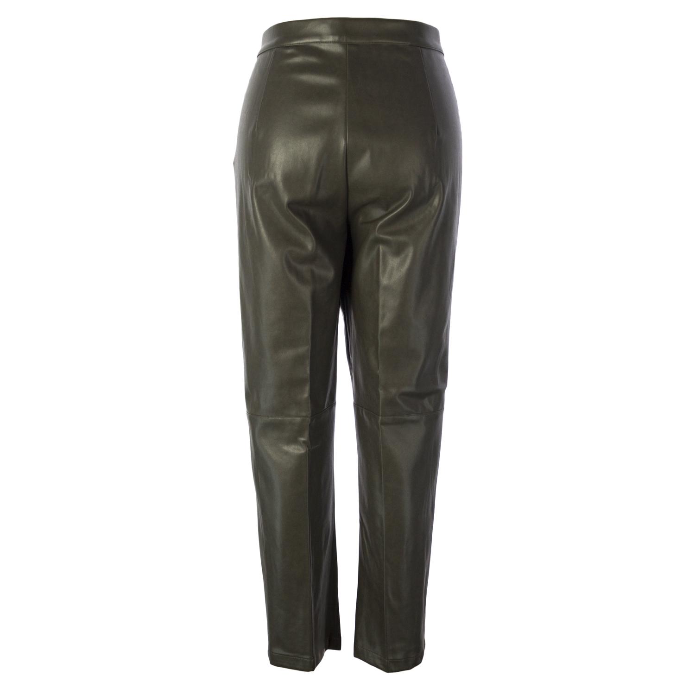 MARINA RINALDI Women/'s Reims Faux Leather Pants $700 NWT