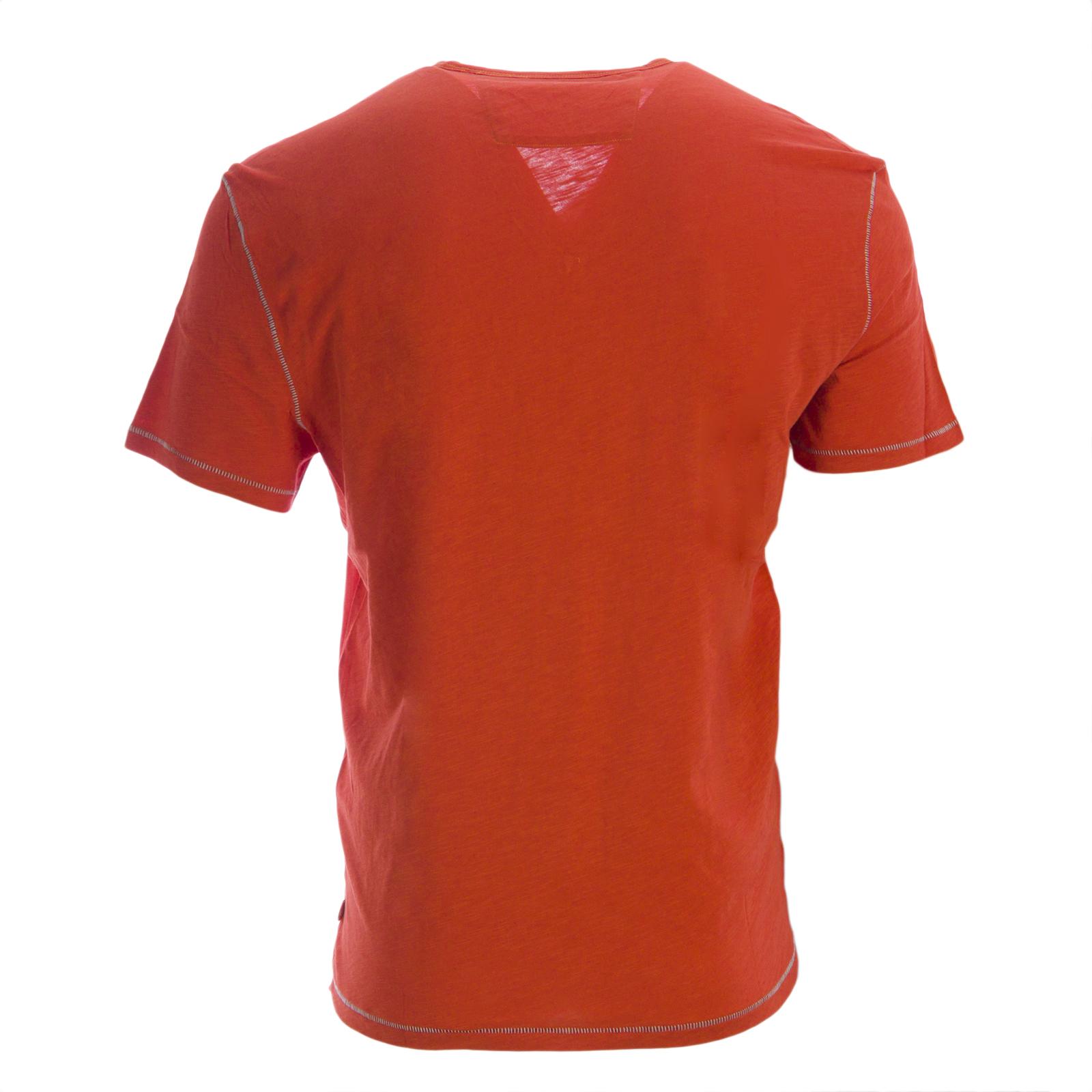 JOHN VARVATOS STAR USA Men/'s Burnout Pickstitch V-Neck Tee $69.50 NWT