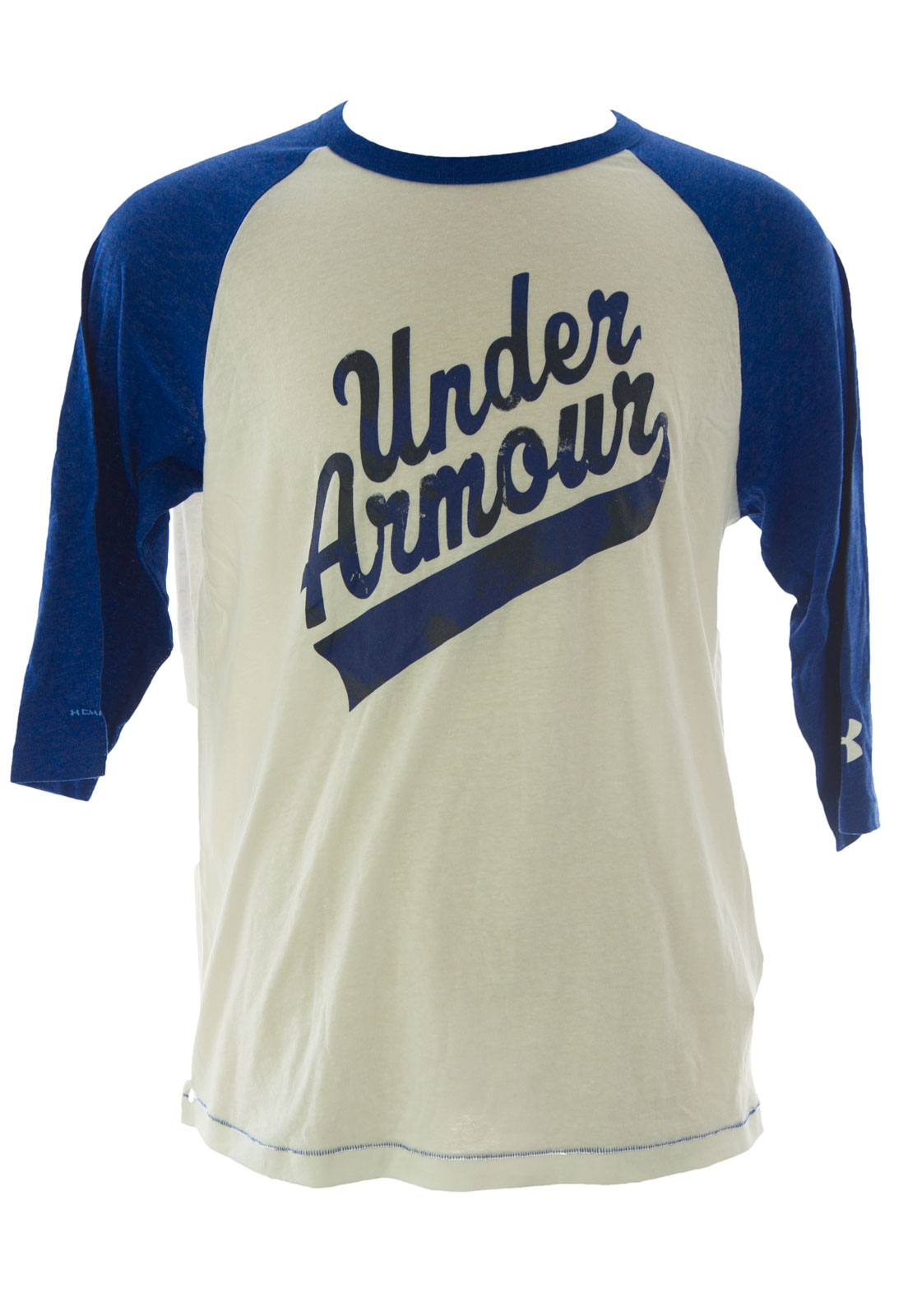 Under armour men 39 s charged cotton 3 4 sleeve graphic t for Under armour charged shirt