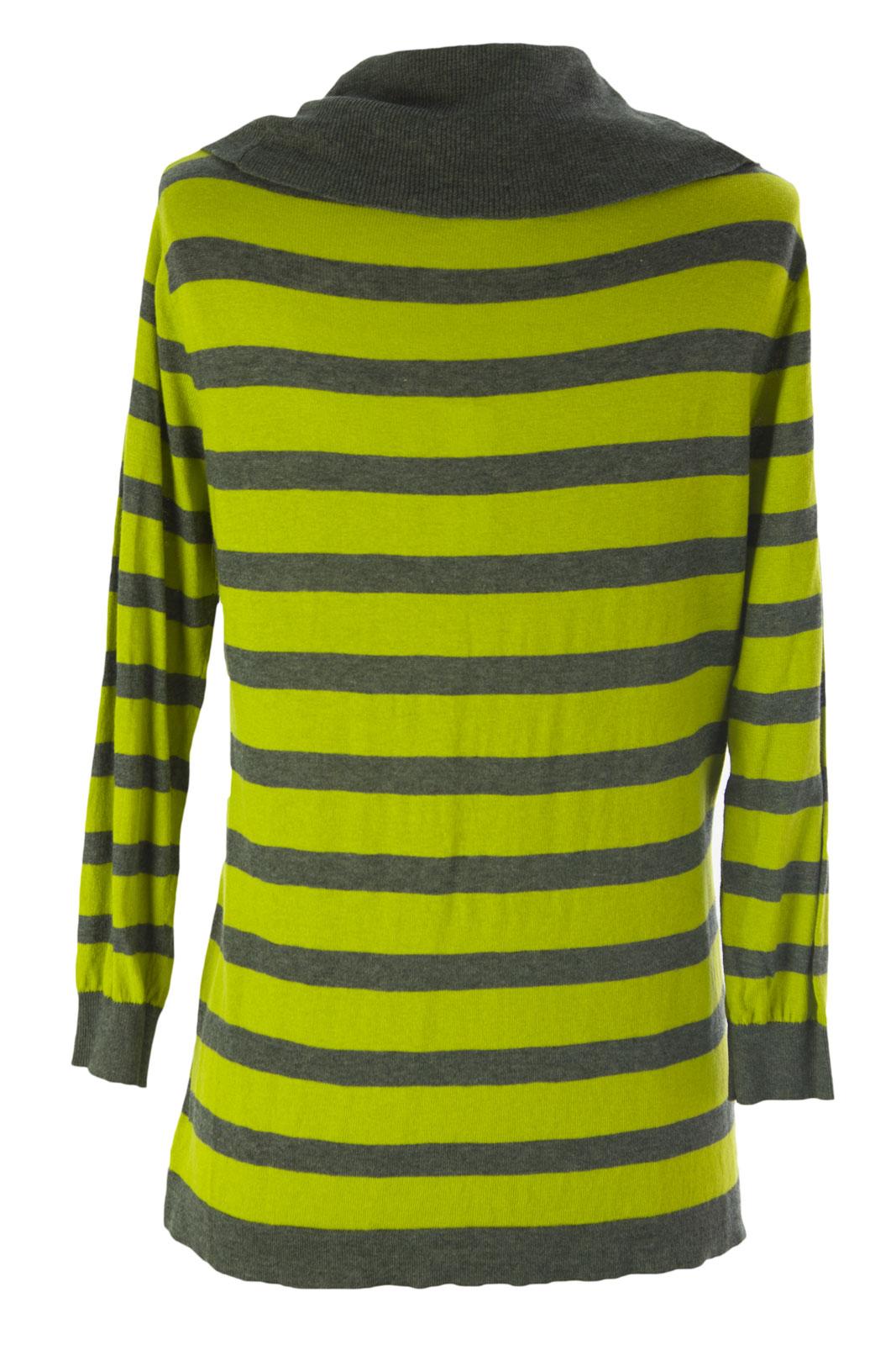 August Silk Women/'s Striped Cowl Neck Sweater NWT $58