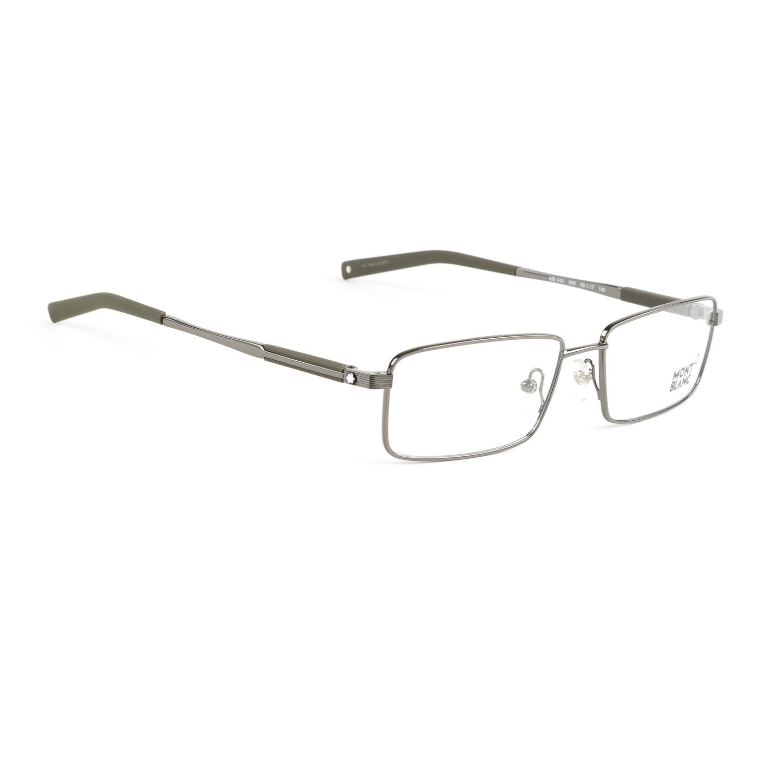 Eyeglass Frames Rectangular : Montblanc Rectangular Metal Eyeglass Frames 55mm MB340 NEW ...