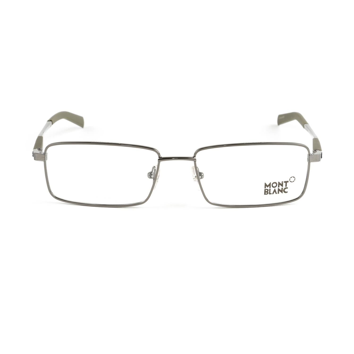 Montblanc Rectangular Metal Eyeglass Frames 55mm MB340 NEW ...