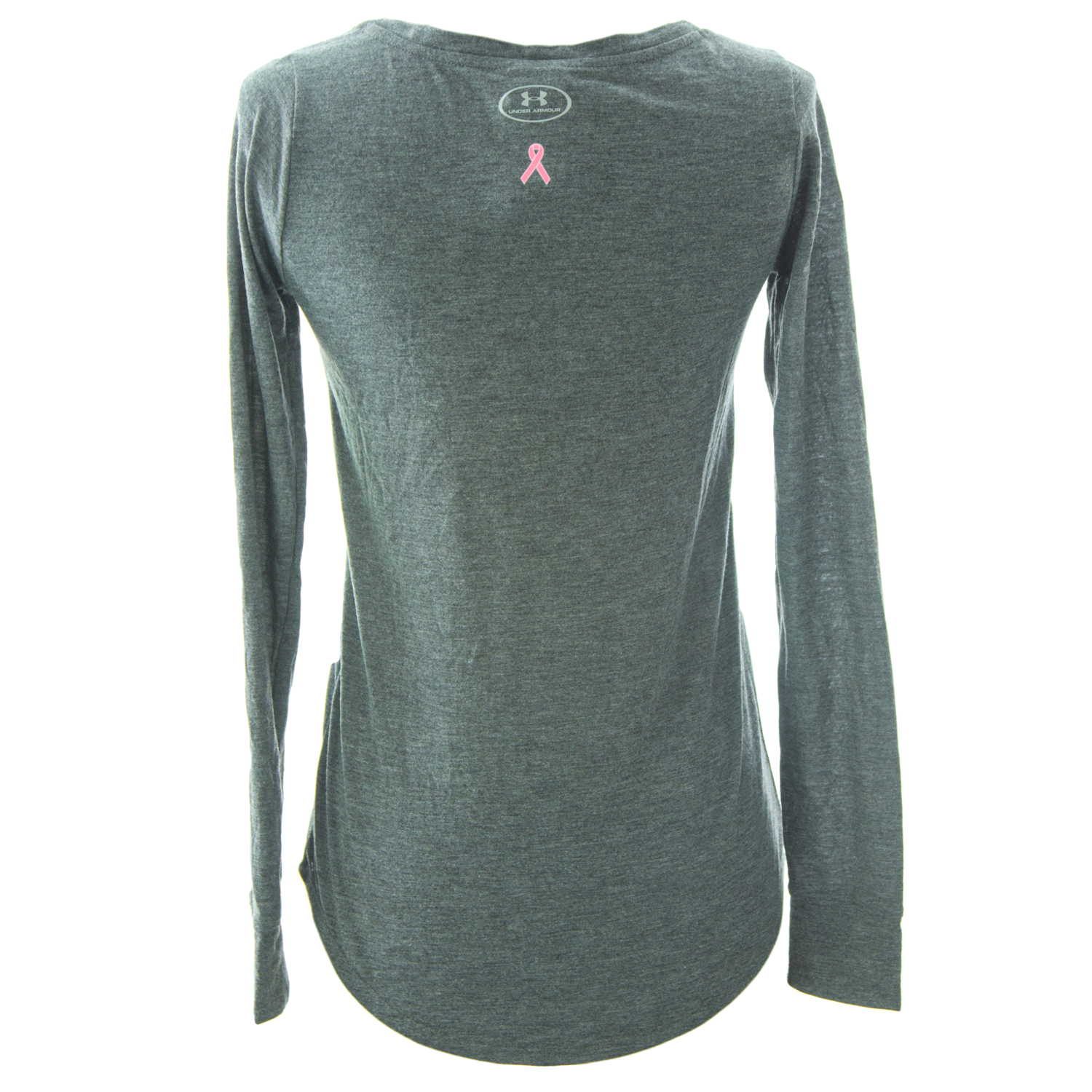 Under armour power in pink women 39 s long sleeve ribbon t for Under armour long sleeve t shirts women