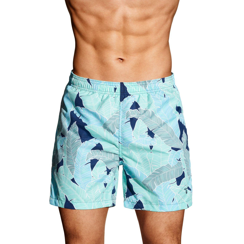 1722d01fae Details about GANT Men's Malachite Green Banana Leaves Swim Shorts 6051 $88  NWT