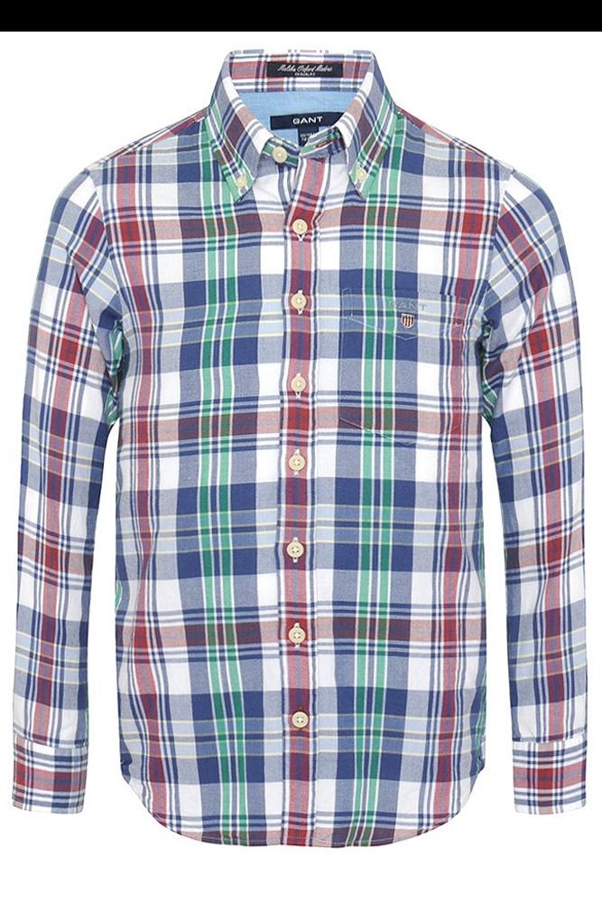 Medium, Blue//Light Blue The New Ivy Mens Indian Madras Shirt