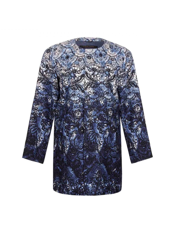 ff24a7c74c7 MARINA RINALDI Women s Cava Printed Cotton Jacket  1025 NWT