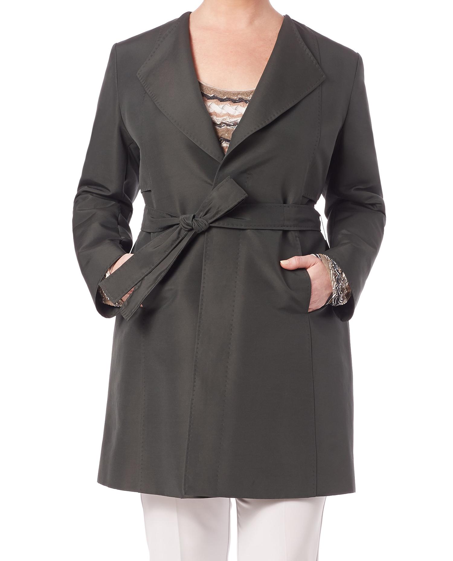 MARINA RINALDI Women/'s Blue Telemaco Classic Fit Trenchcoat $965 NWT
