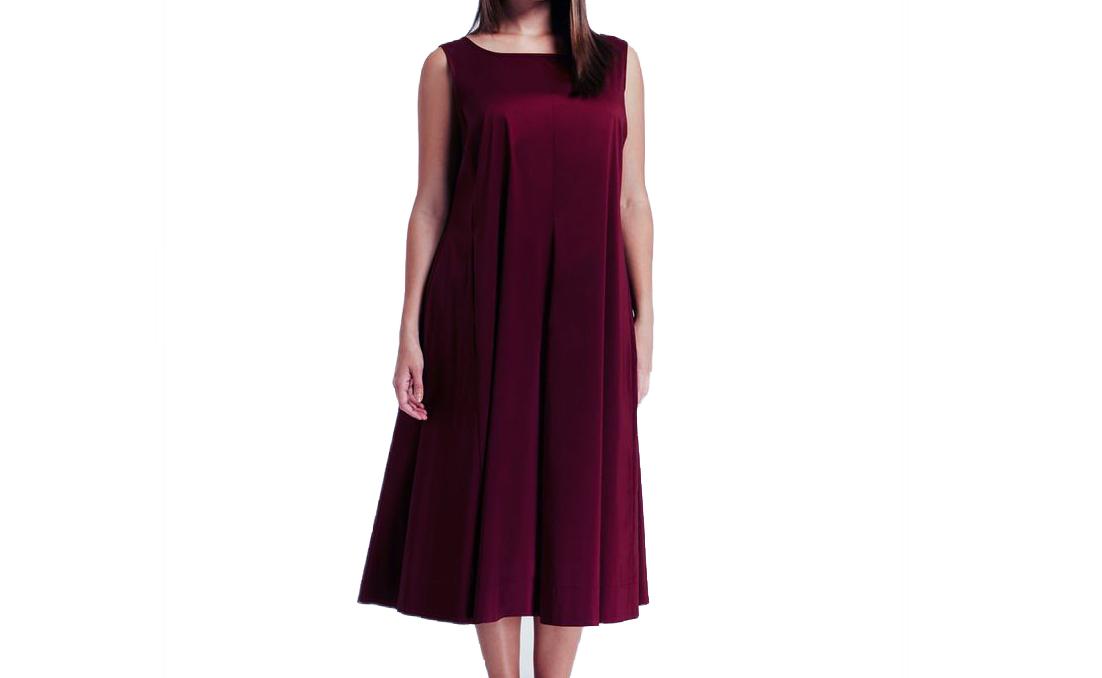 69ce0990ac1 MARINA RINALDI Women's Bordeaux Dorare Tent Dress 14W / 23 $455 NWT