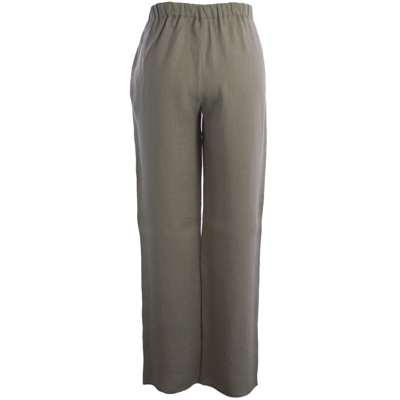 MARINA RINALDI Women/'s Black Romina Casual Flax Pants $240 NWT