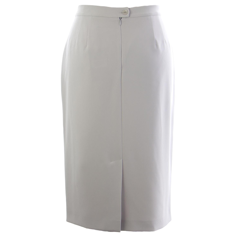MARINA RINALDI Women s Grey Cancan Back Slit Pencil Skirt 12W   21  330 NWT b9bad254f9c