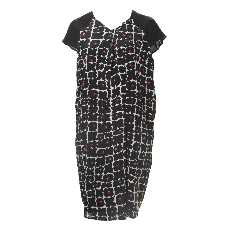 9863e1600a3 MARINA RINALDI Women s Black Duna Floral Shift Dress 18W   27  555 NWT