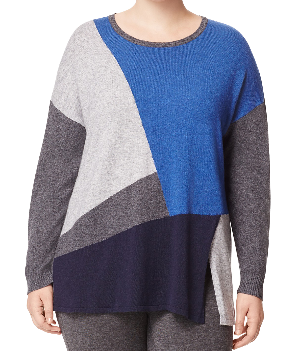 MARINA RINALDI Women/'s Multi Alassio Colorblock Sweater $295 NWT