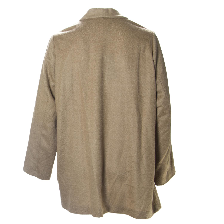 MARINA RINALDI Women/'s Brown Multi Mimo Button Cardigan $675 NWT