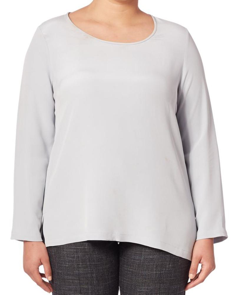 MARINA RINALDI Women/'s Bea Side Twist Blouse $455 NWT