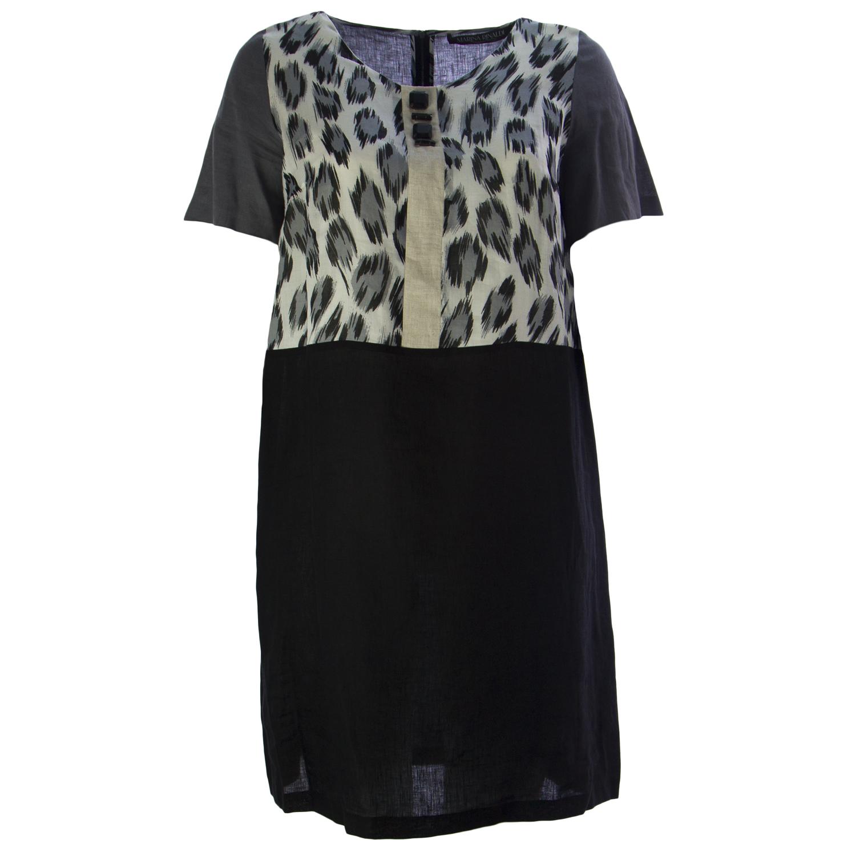 031a736c8e79d6 MARINA RINALDI Frauen grau Dumas Leopard Print Kleid 14W / 23 $425 NWT