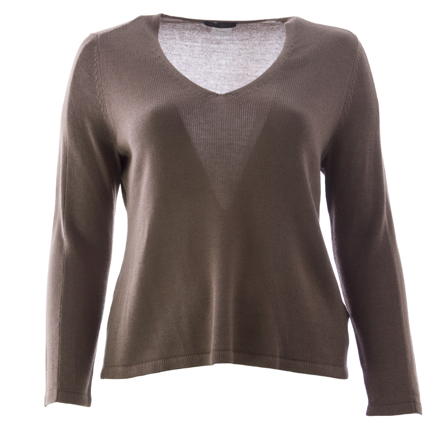Marina Rinaldi Women's Alias V-neck Sweater Medium Brown | eBay