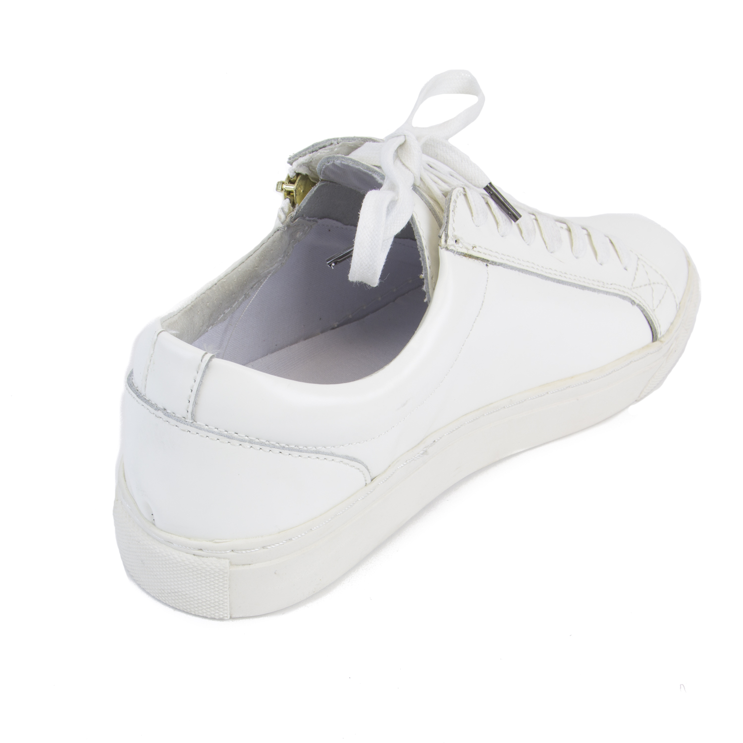 Nib Uk Religion Details Sneakers White Hi About 6us Zip Detail Shine Men's 7160 Iron QrdhtsC