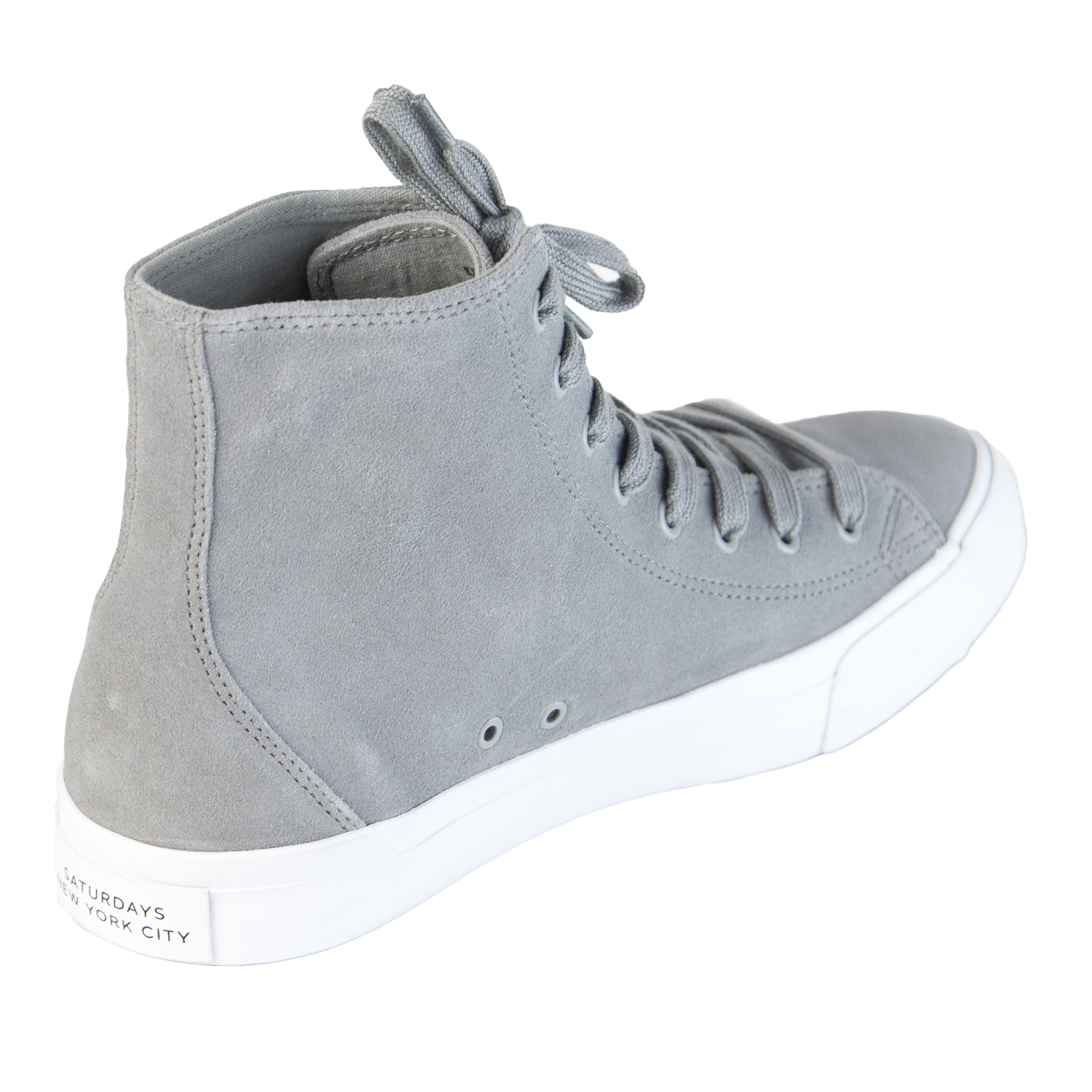 2adccd6e33a Details about SATURDAYS NYC Men's Slate Mike Suede High Top Sneaker 315MIKE  $225 NEW