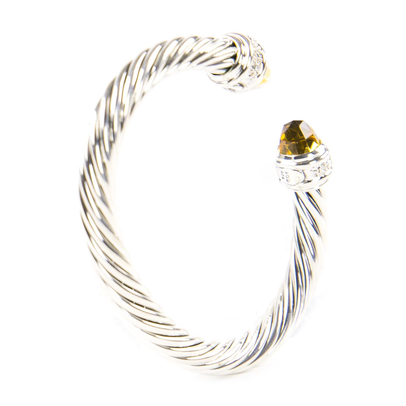CITRINE Bracelet D597 MADEIRA-CITRIN Edelstein-Armband
