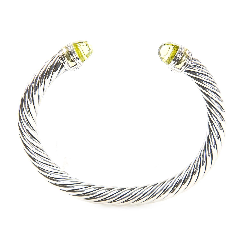 6788427e641b68 Details about DAVID YURMAN Cable Classic Bracelet with Lemon Citrine & 14K  Gold 7mm NEW
