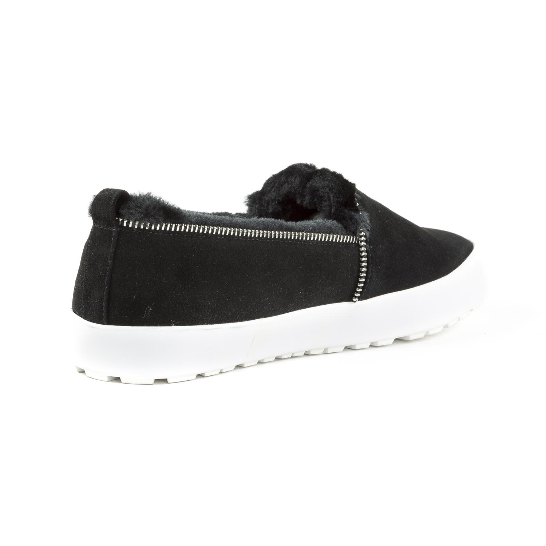 REBECCA-MINKOFF-Women-039-s-Sofia-Black-Suede-Slip-On-Sneakers-175-NIB miniature 3