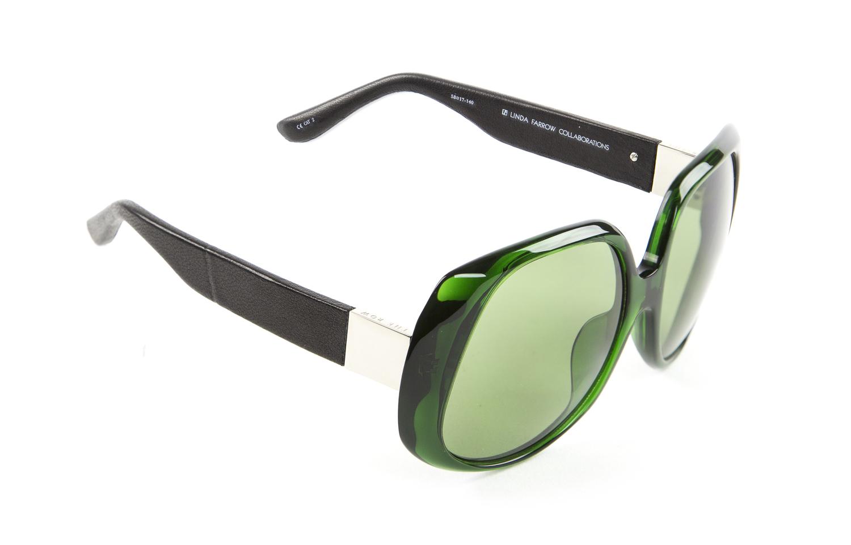 c153f9104221 LINDA FARROW Women s Round Acetate Sunglasses 46C NEW