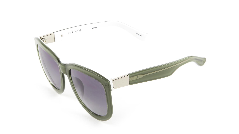 8ad268d775b3 Details about LINDA FARROW Women s Mint Oversized Acetate Sunglasses 74C7  NEW