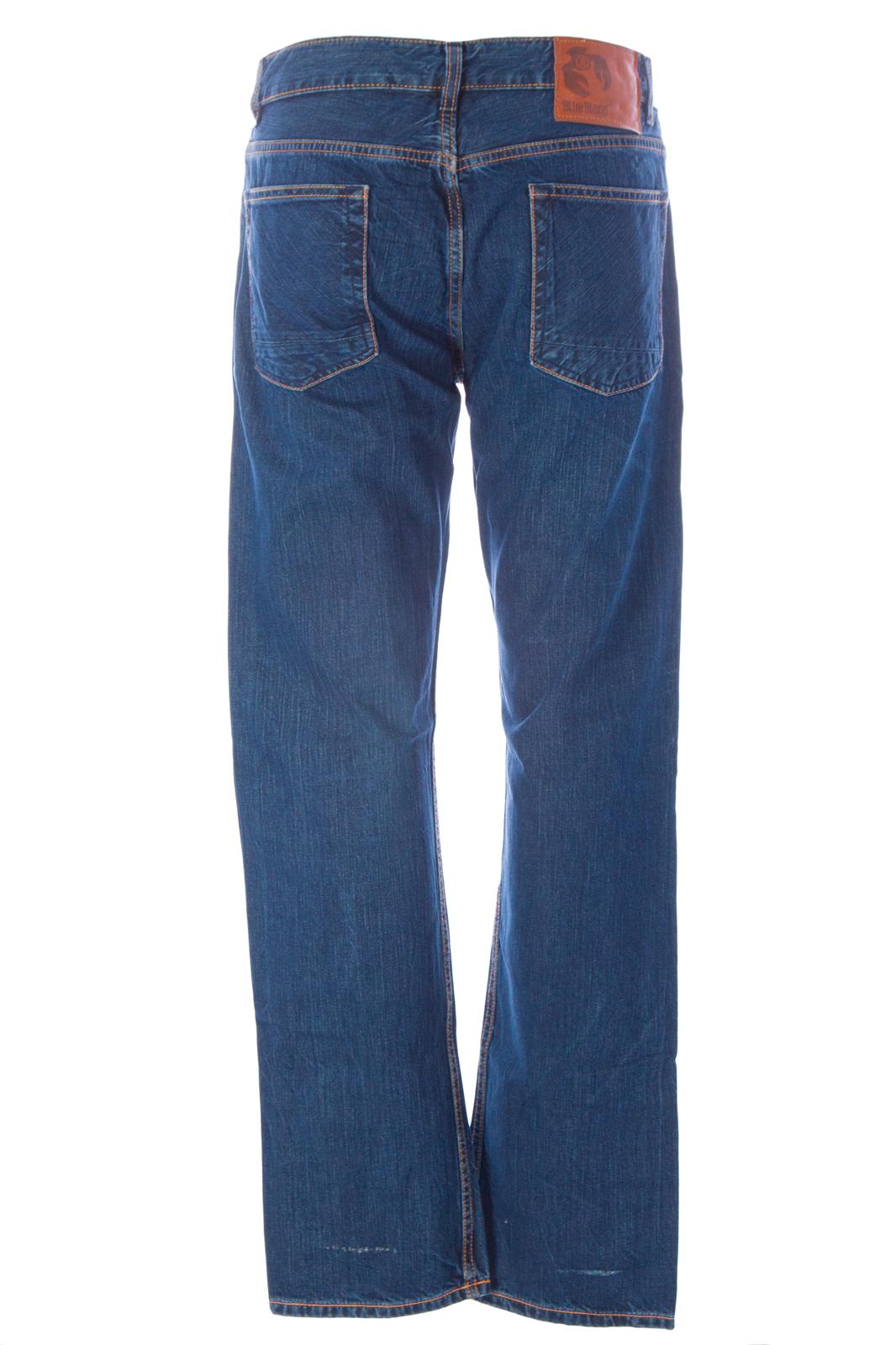 BLUE BLOOD Men/'s Target MIJ4 Cinch Back Denim Jeans MS08D07 $250 NWT