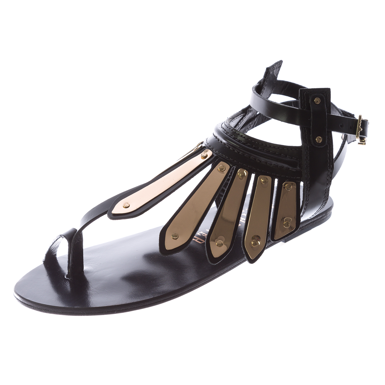 83e15c95c24ef IVY KIRZHNER Women s Black Woven Leather Soleil Thong Sandals Sz 6  375 NEW