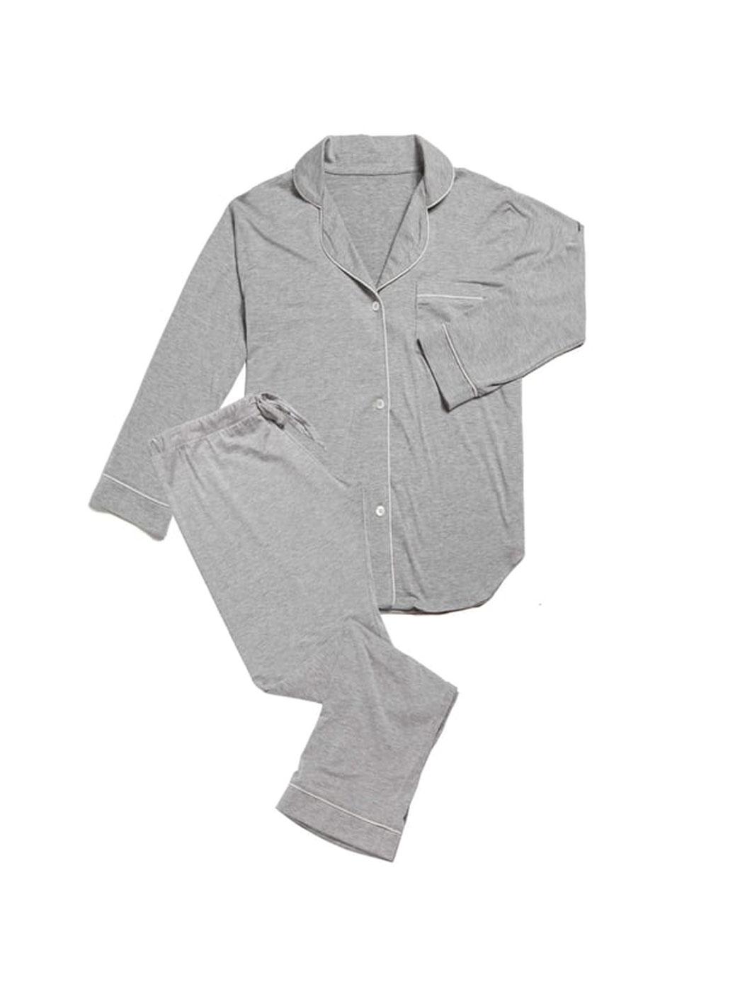MARIGOT Women s Grey Lurin Long Pajama Set Sz S  155 NEW 086260096