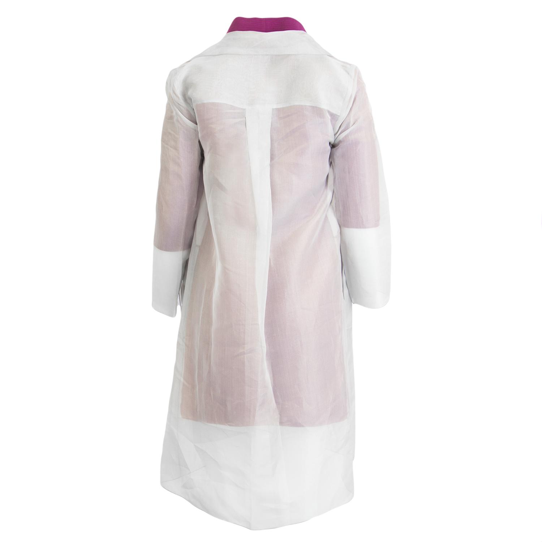 f0d38154faf MAX MARA Women's Antonia Pearl Grey Open Front Sheer Overcoat US 8 $995 NWT
