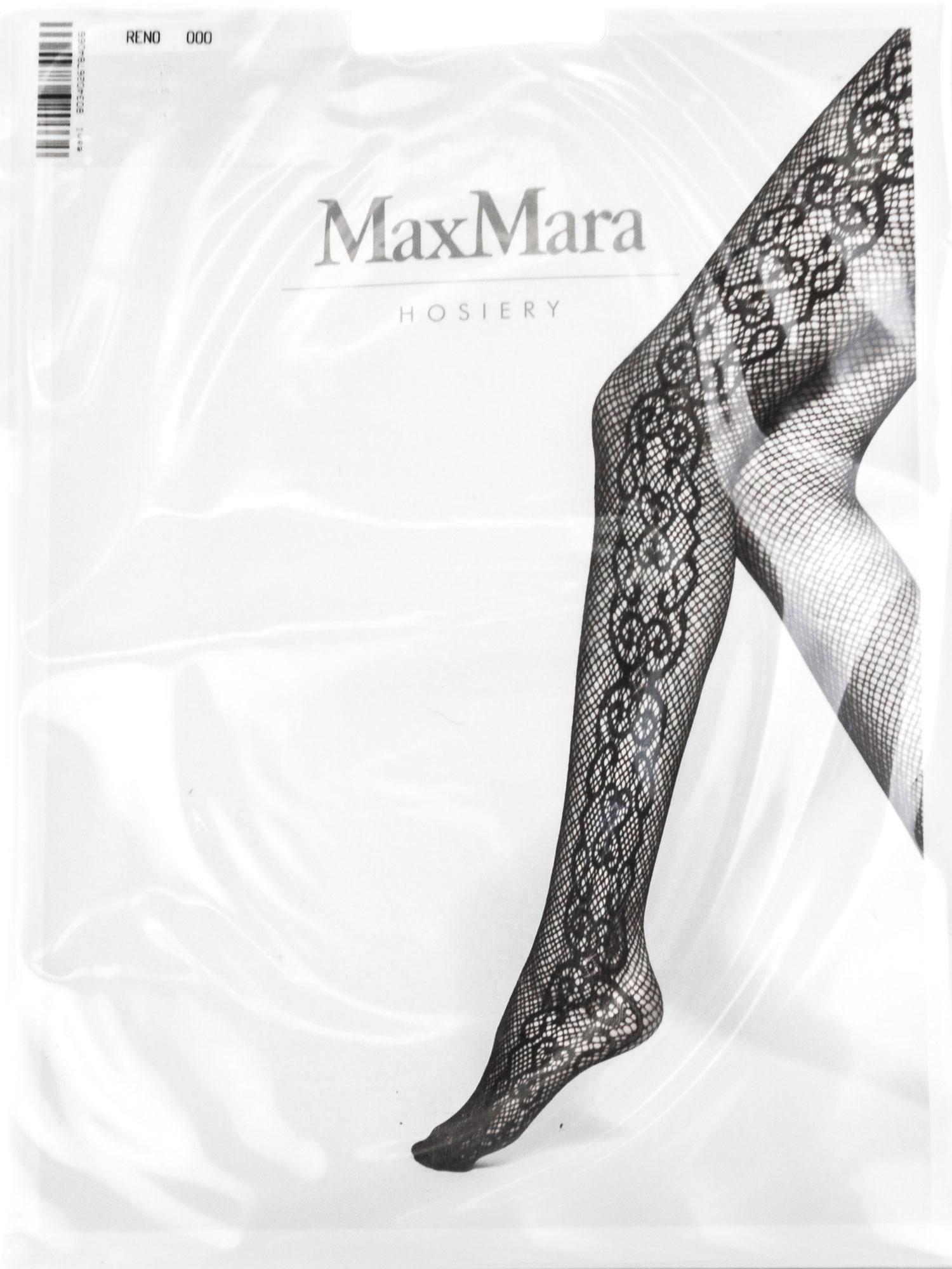 size 40 97cf3 366c1 Details zu Max Mara Damen Schwarz Reno Gemusterte Strumpfhose Größe M/L Neu