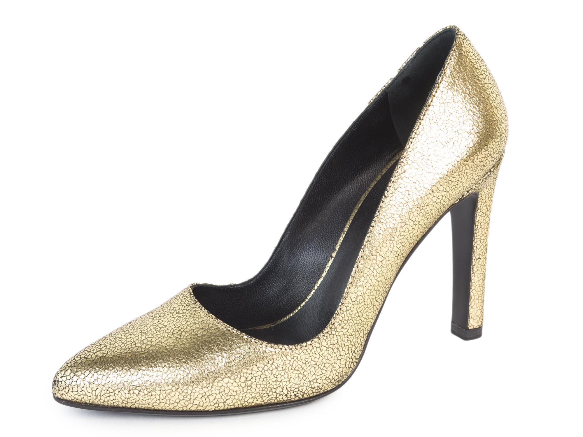 ef4898b7d0e MAX MARA Women s Zufolo Metallic Gold Leather Pumps US 6   IT 36  535 NIB