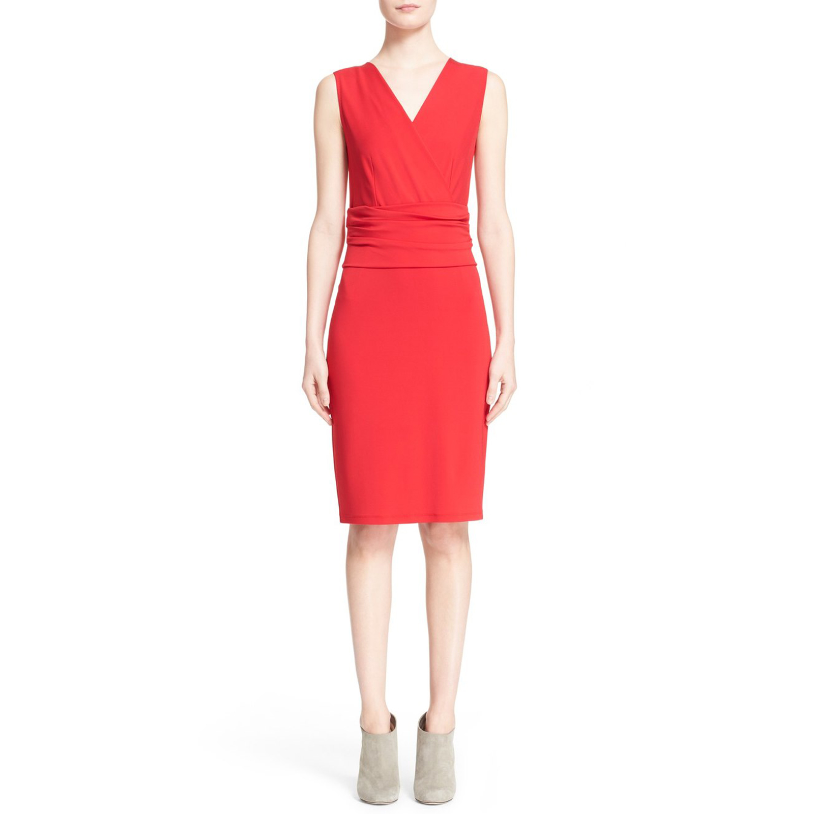 527a7535651d4 Lusso rosso Jersey guaina Dress Sz 6  795 NWT MAX MARA donna