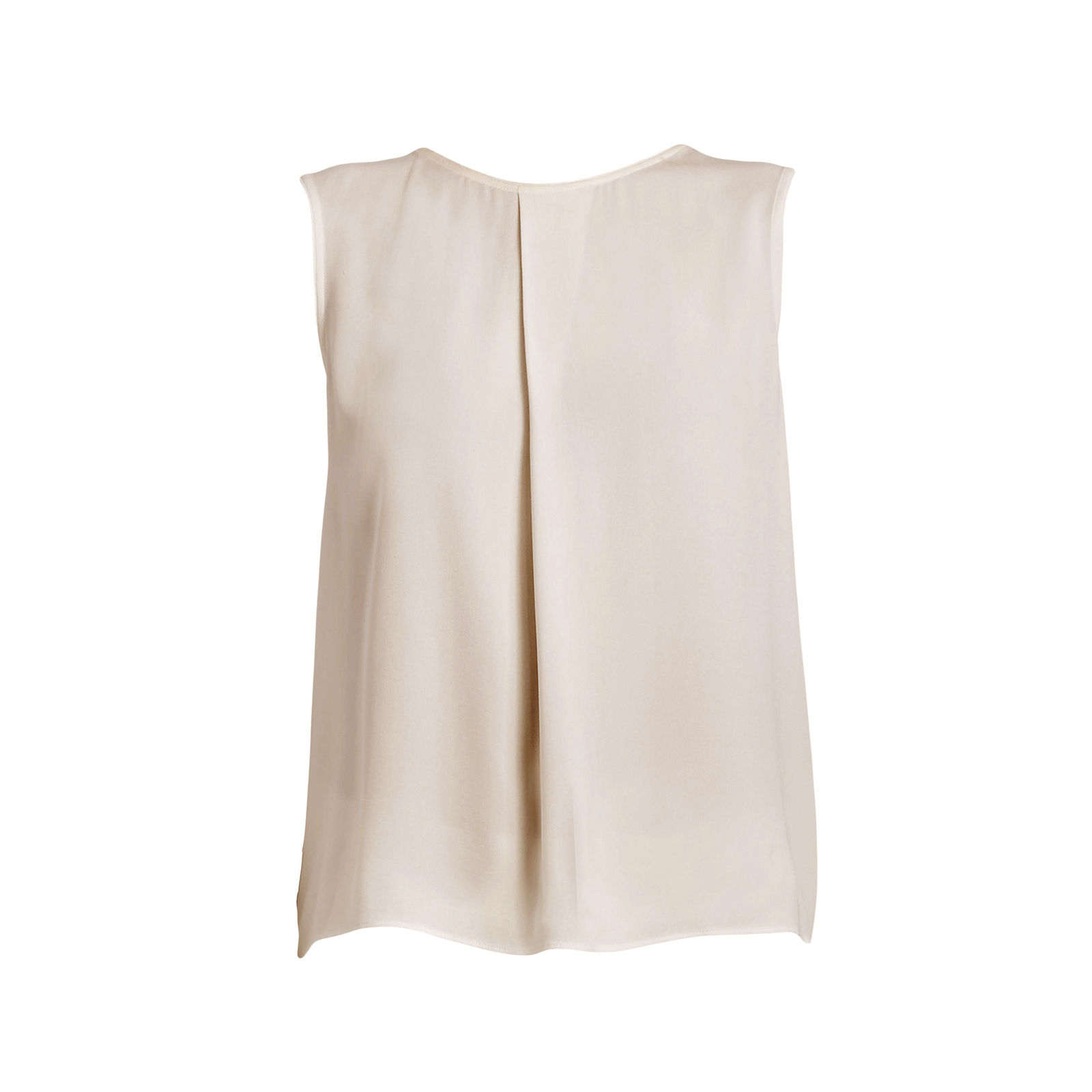 f7e818071a9262 ... Tops Short Sleeve   Sleeveless Source · MAX MARA Women s Vanna Beige  Sleeveless Pleated Silk Tank Top Sz 4