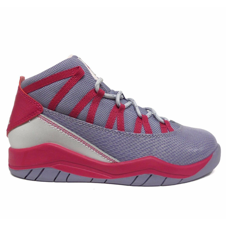 magasin en ligne 7db56 566b6 Détails sur Jordan Petite Fille Gris / Fuchsia Prime Vol de Ps Baskets  616592 Sz 12c