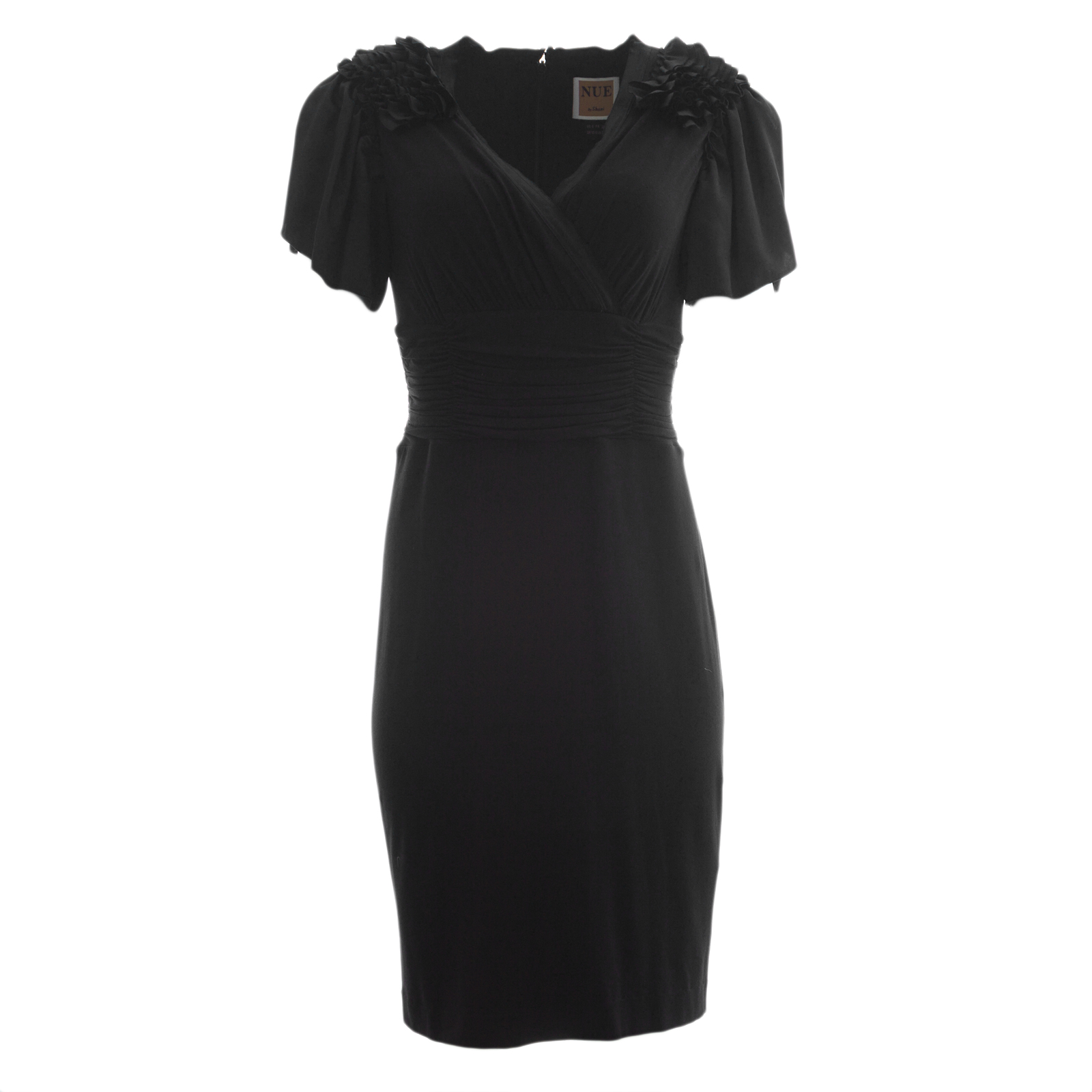 5247f6b458 NUE by Shani Women s Black Flutter Sleeve Cocktail Dress S457 Sz 2  280 NWT