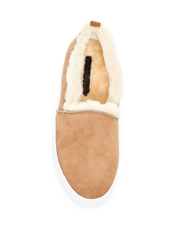 REBECCA-MINKOFF-Women-039-s-Sofia-Black-Suede-Slip-On-Sneakers-175-NIB miniature 7