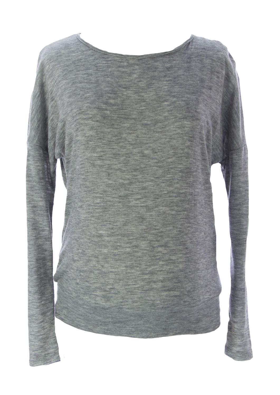 1a35ec669ebf2 JULES & JIM Maternity Women's Grey/Black Lace Back Sweater H15232 Sz M $106  NEW