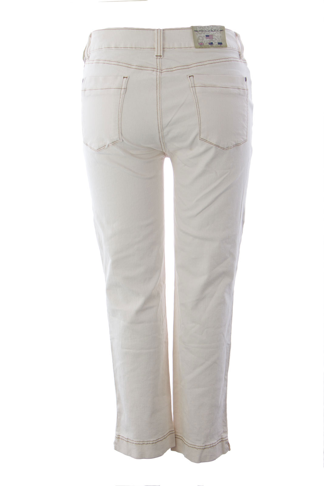 MIRACLEBODY by Miraclesuit Women/'s Natural Lila Ankle Jeans Sz 16 $106 NWT