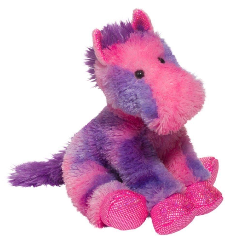 Douglas Cuddle Toys 12 Allegra Pink Purple Horse Stuffed Animal