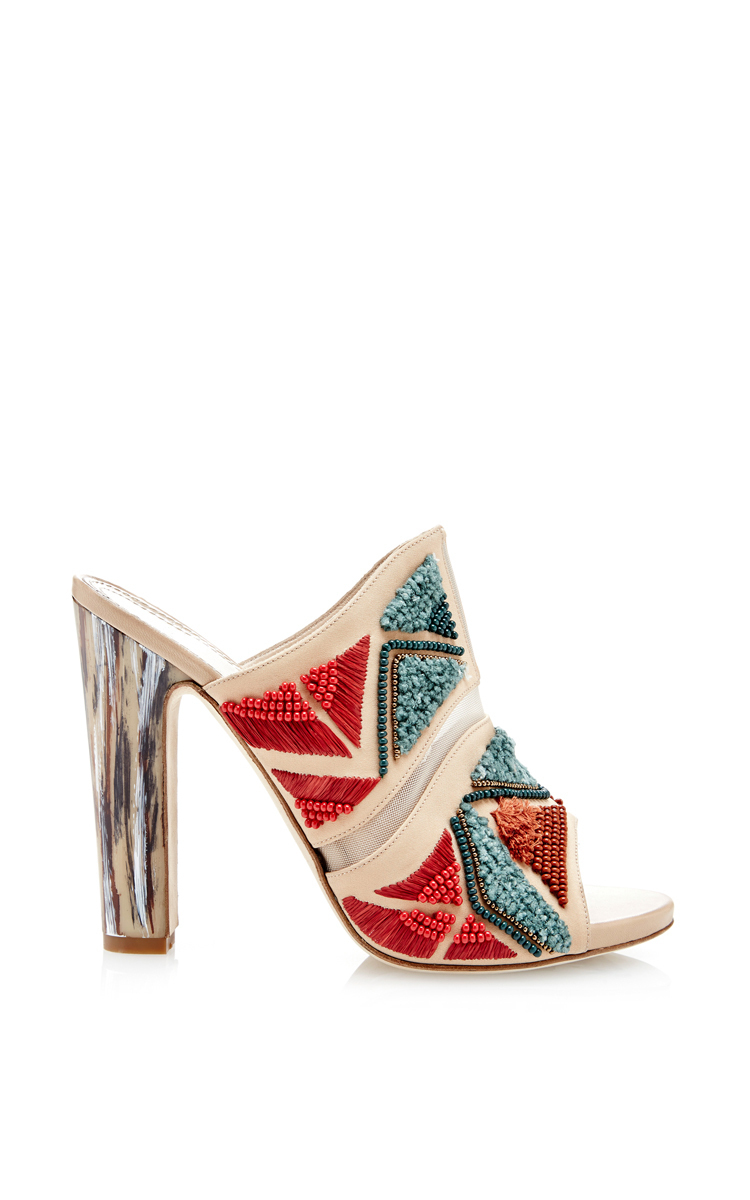 MAIYET Donna  Embroiderosso Jill Mule Heels  895 895 895 NEW d9e594