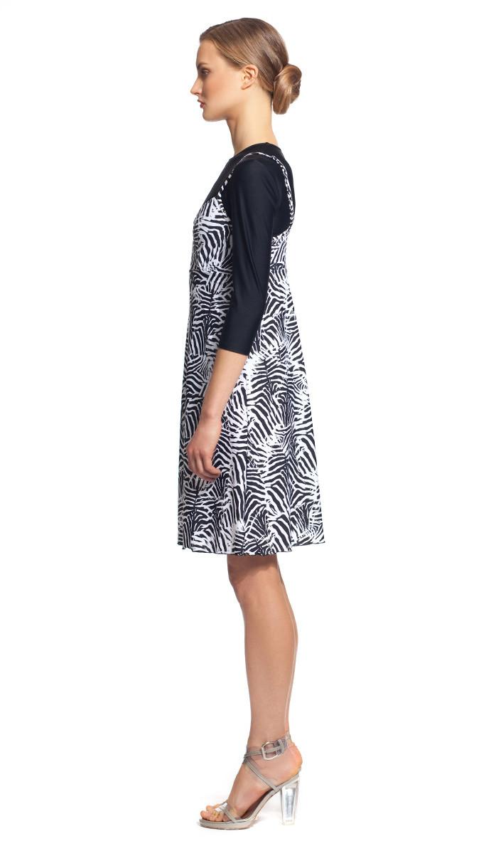 023e38bda09747 MODEST SEA Bridget Medium Coverage Zebra Print Swim Dress Sz S 11039 $167  NEW