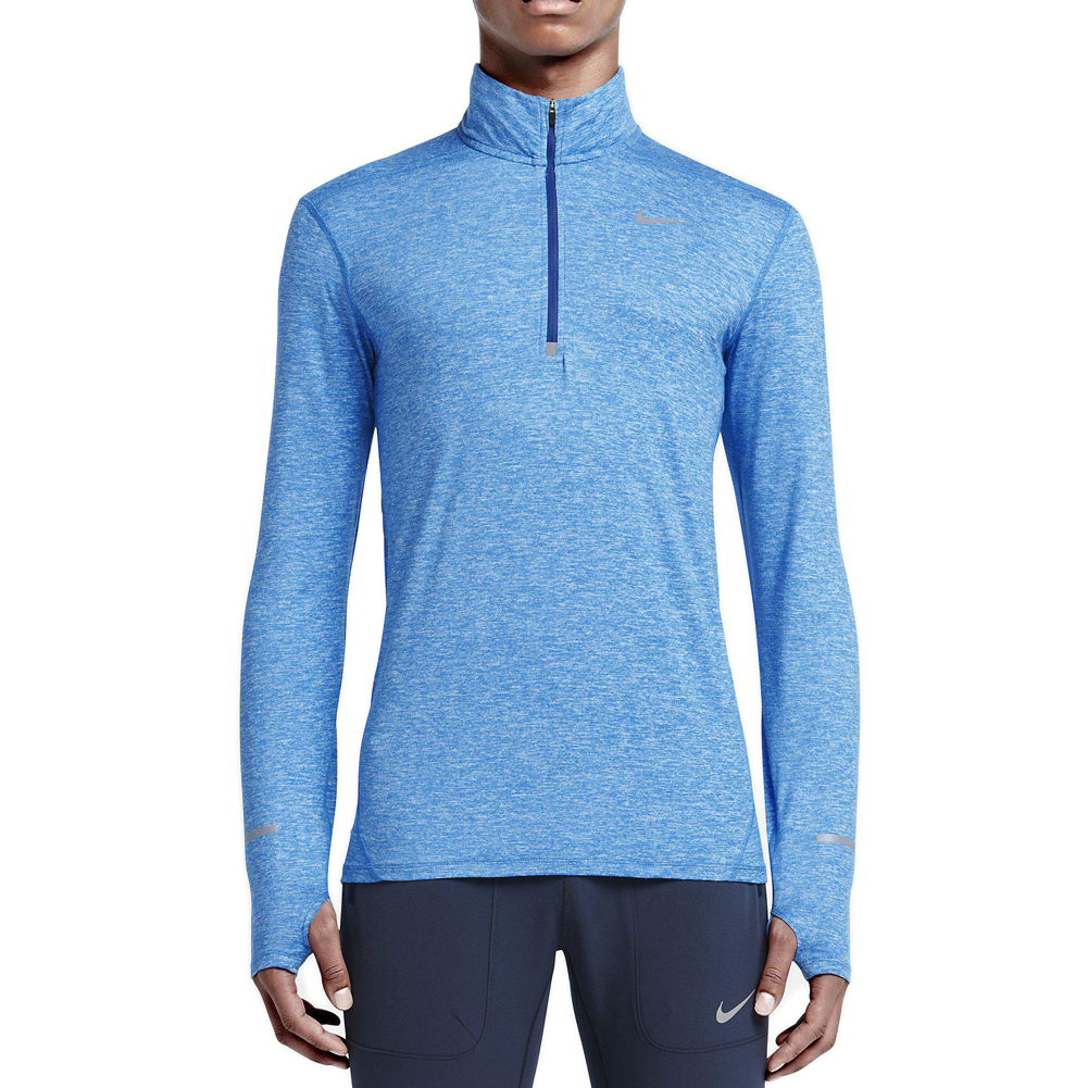 sneakers for cheap 46780 1567f Details about NIKE Men s Royal Heather Dri-Fit Element Half-Zip Running Top  683485 NEW