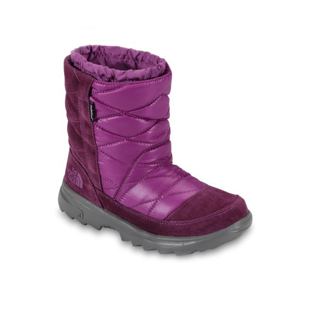 The North Face Girls Shiny Magenta Winter Camp Snow Boots ...