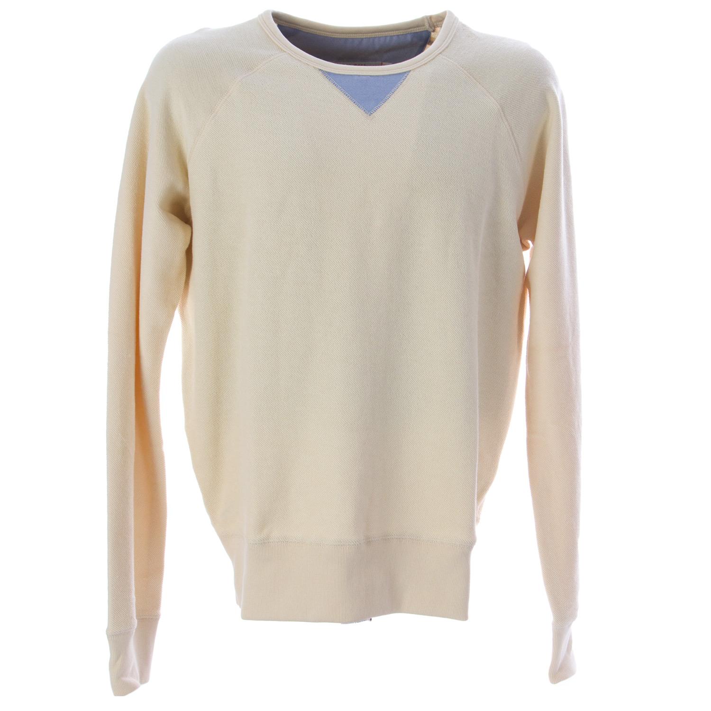 OLASUL Men/'s Bone Reverse Sweatshirt $130 NEW