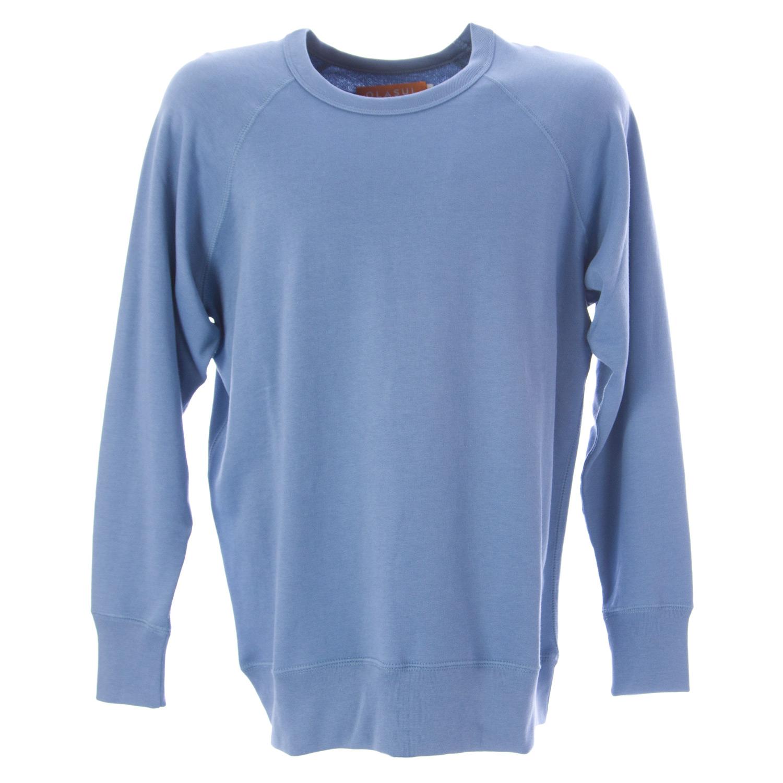 OLASUL Men/'s Heathered Peach Crewneck Sweatshirt $120 NEW