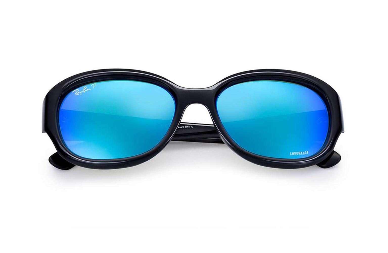 d09b2ff42b9 Ray-Ban Black Blue Mirror Chromance Sunglasses RB4282  213 NEW ...