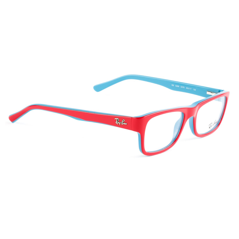 83a97770bd Ray-Ban Junior Kid s Red Blue Rectangular Eyeglass Frames RB5268 48mm  140  NEW