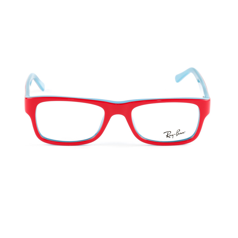 8662b32f063 Ray-Ban Junior Kid s Red Blue Rectangular Eyeglass Frames RB5268 48mm  140  NEW
